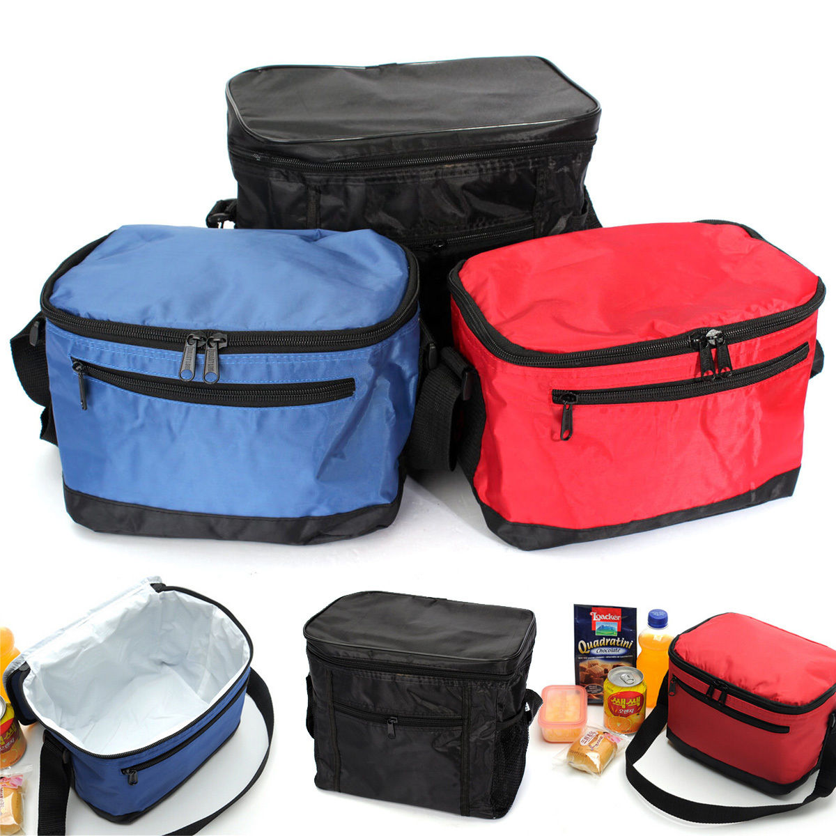 NEW Lunch Bag Waterproof Thermal Portable Outdoor Cooler Insulated Picnic Camping Hiking Lunch Box