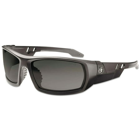 Safety Sunglasses (Ergodyne Skullerz Safety Sunglasses- Matte Black Frame, Smoke)