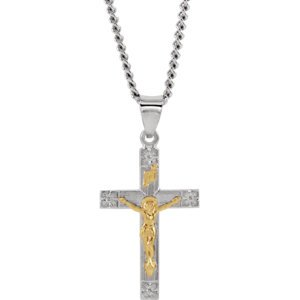 Jewels By Lux 14K Yellow Gold 28.00X16.23 mm Polished Crucifix With 24