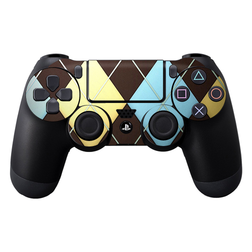 Protective Vinyl Skin Decal Cover for Sony PlayStation DualShock 4 Controller wrap sticker skins Argyle