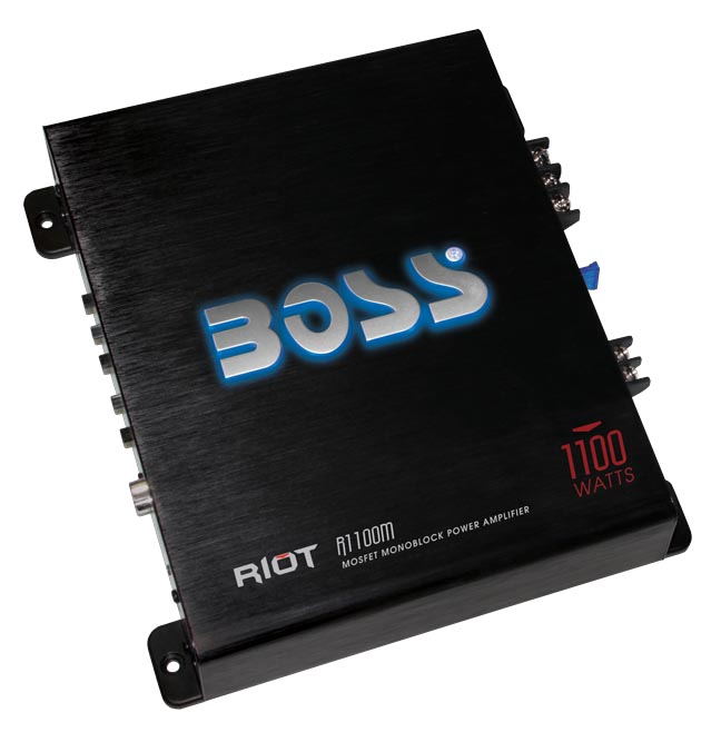 BOSS Audio R1100M RIOT Series 1100W Mosfet Power Monoblock Amplifier