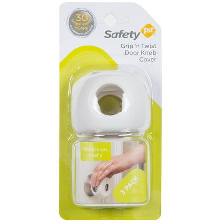 Safety 1st Grip 'n Twist Door Knob Covers (3pk), White (Door Knob Cover Security Lock)