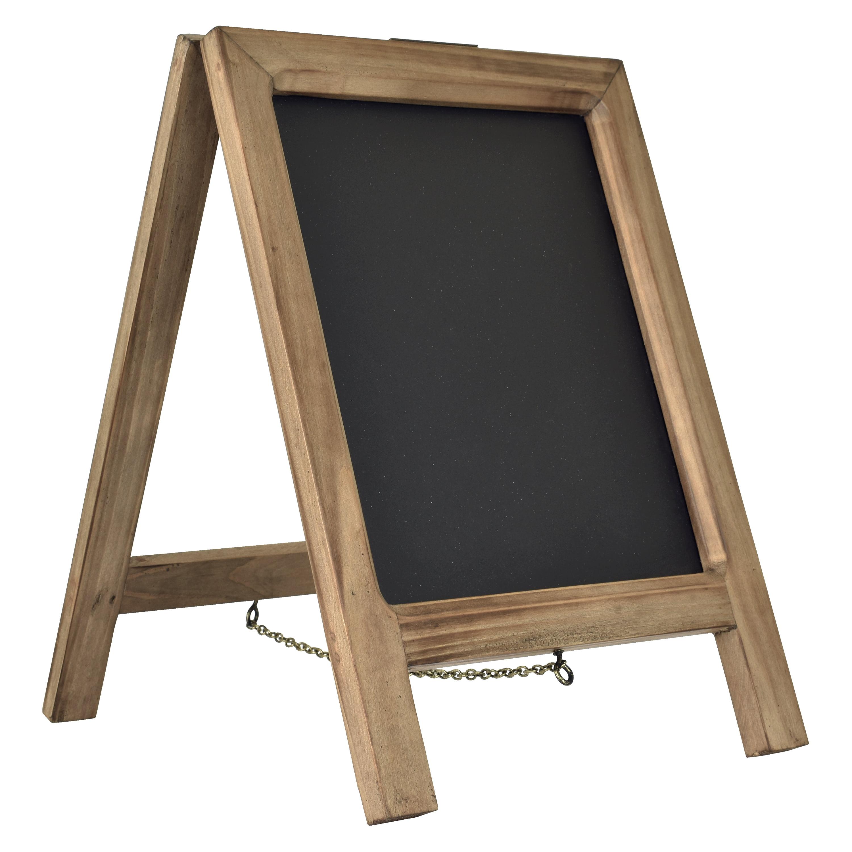Better Homes & Gardens Tabletop Wood Chalkboard Easel, Medium Wood Wash