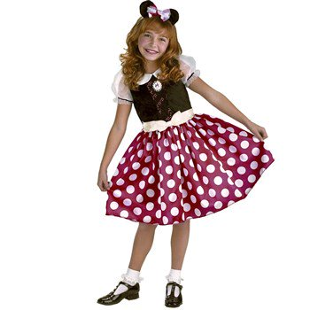 Disney Minnie Mouse Child Halloween Costume (Red And Black Minnie Mouse Tutu)