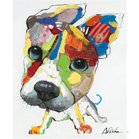 Playful Pooch Original Hand Painted Portrait (Custom Hand Painted Portrait)