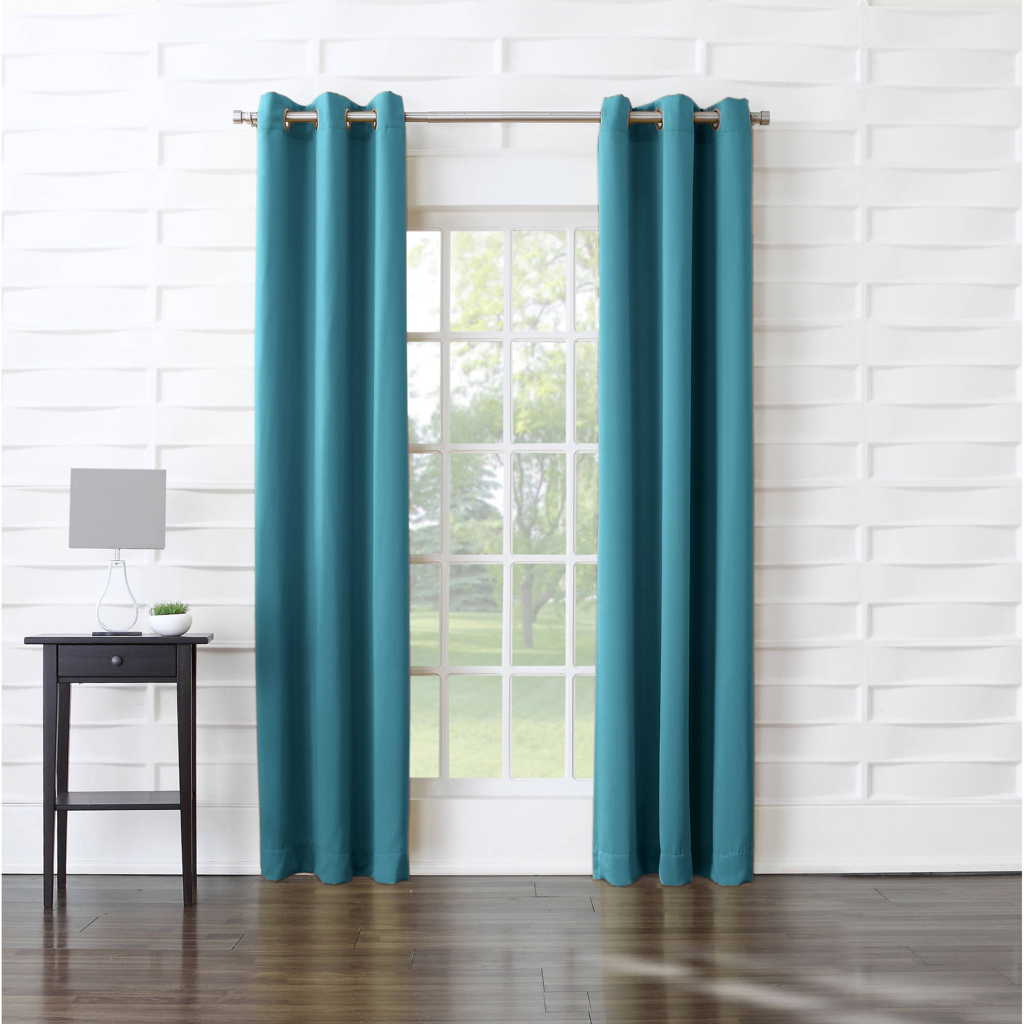 Walmart Curtains For Living Room Entrancing Sun Zero Millennial Arya Room Darkening Grommet Curtain Panel Review