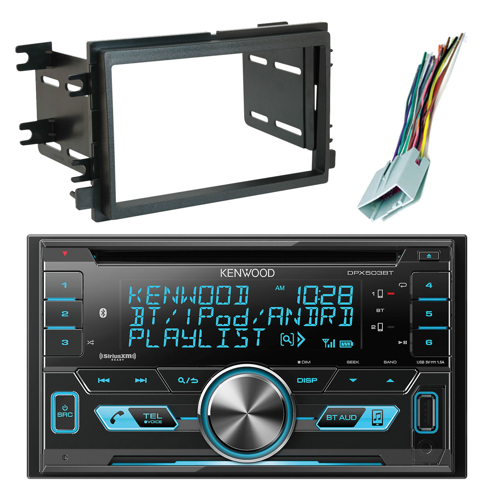 Usb Car Radio Wiring Harness Electrical Diagrams Kenwood Diagram Amfm Dpx503bt Double Din Bluetooth Cd Am Fm Audio Nissan