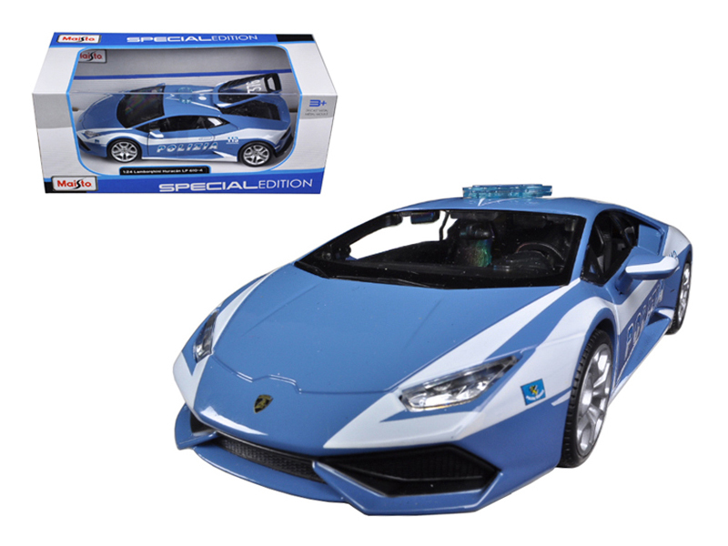 Lamborghini Huracan LP610-4 Police 1 24 Diecast Model Car by Maisto by Diecast Dropshipper