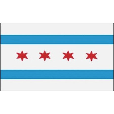 City Of Chicago Flag Illinois Banner Windy City Pennant 3x5 Indoor Outdoor New