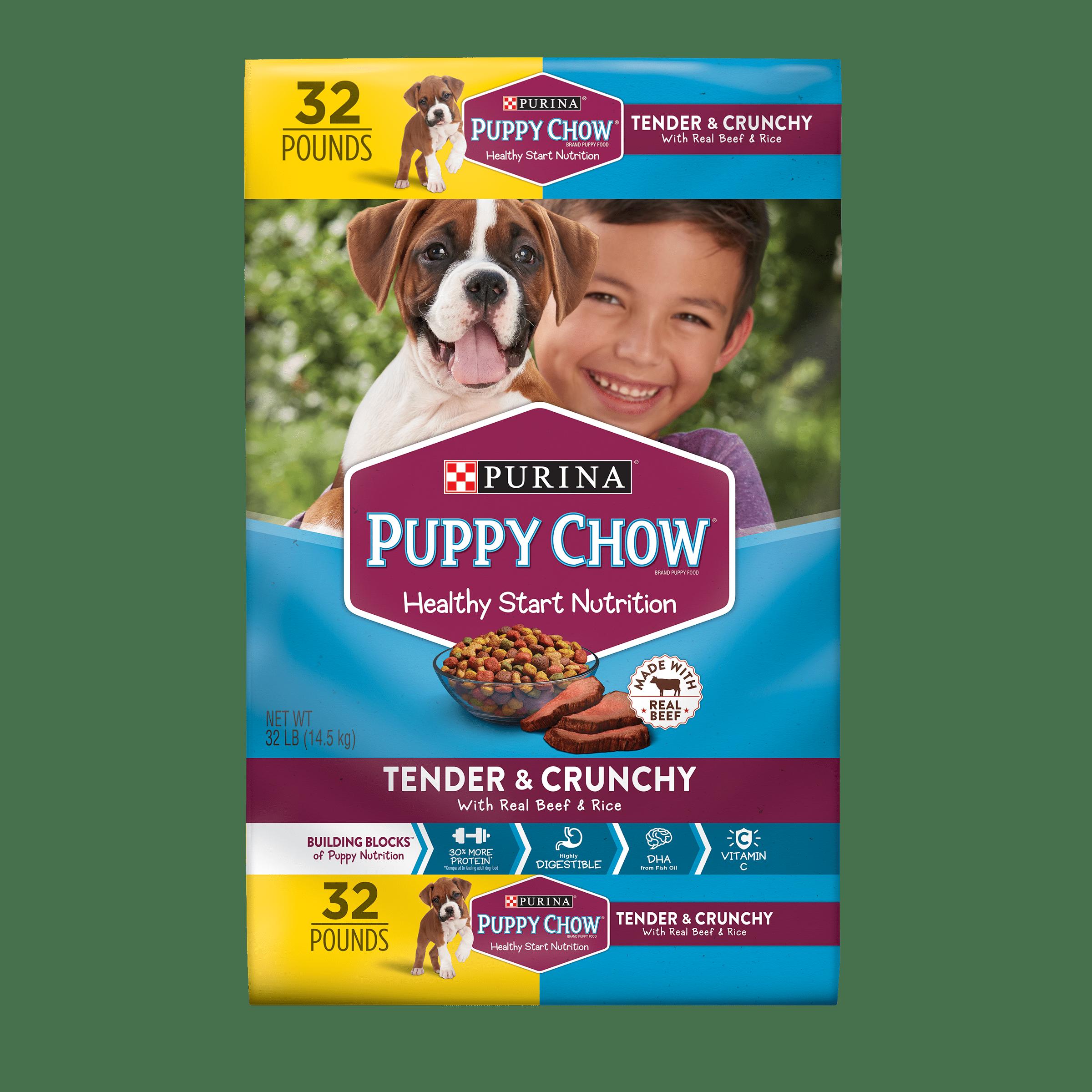 Purina Puppy Chow Tender & Crunchy Dry Puppy Food - 32 lb. Bag