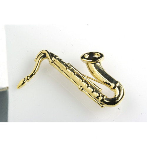 Noteables Saxophone Stick Pin in Gold (Set of 2)
