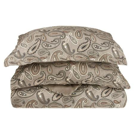 Superior Flannel Quality Cotton Paisley Duvet Cover Set ()