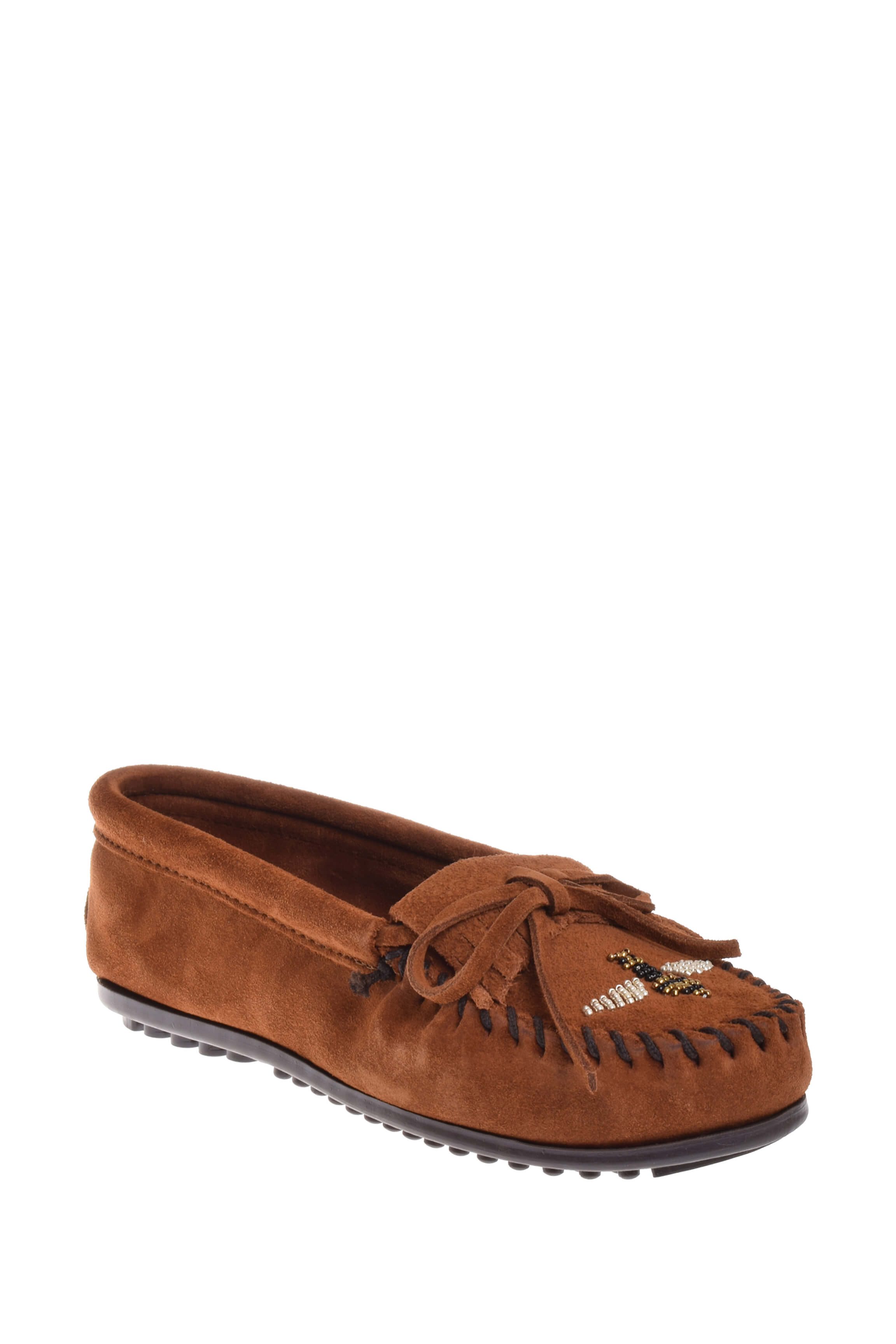 Click here to buy Minnetonka 418H Minnetonka X Moko Moc Loafer Brown.