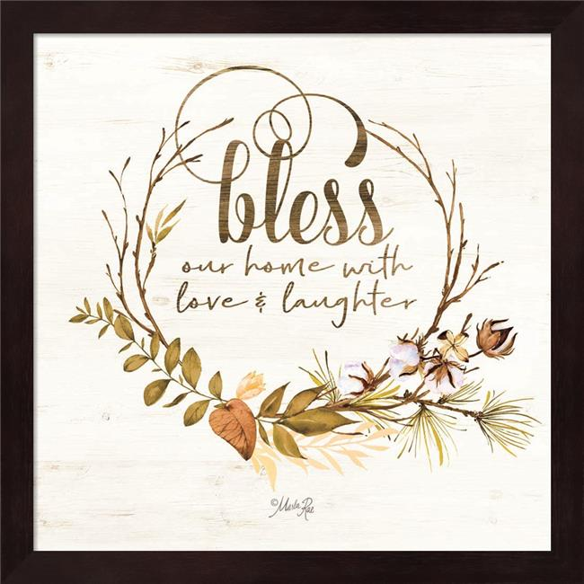 Metaverse R959023-0120000-AEAAAADAN4 13.25 x 13.25 in. Bless Our Home Fall Foliage Framed Wall Art by Marla Rae - image 1 of 1