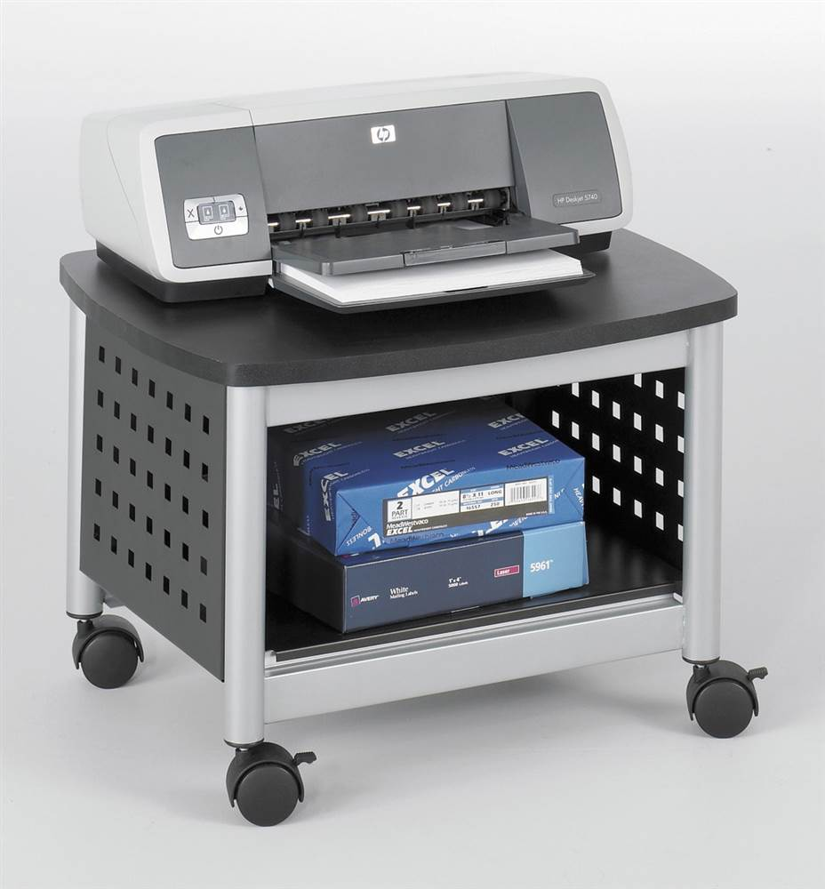 Scoot Underdesk Printer Stand in Black
