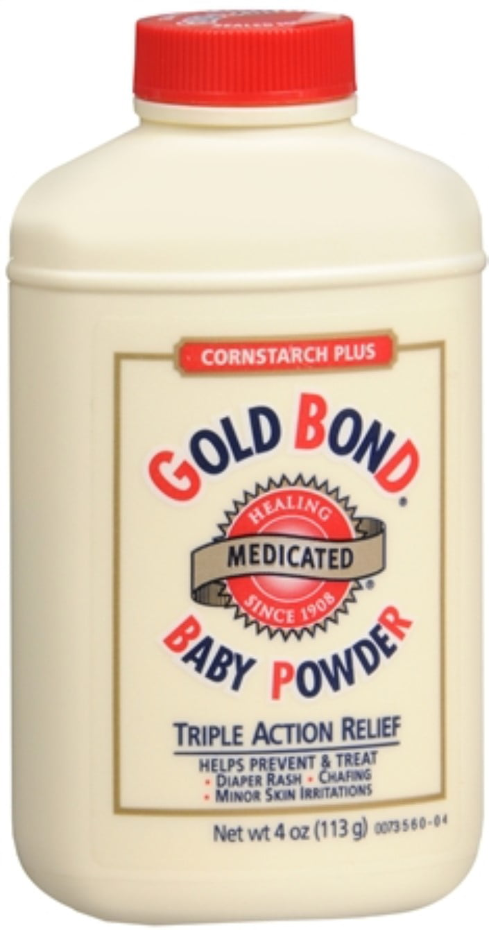 Gold Bond Cornstarch Plus Baby Powder 4 oz (Pack of 4) by Gold Bond