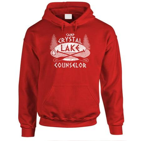 CAMP CRYSTAL LAKE - horror jason hockey - Fleece PULLOVER (Hockey Logo Hoodie Sweatshirt)