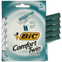 BIC Comfort Twin Blade Sensitive Shaver, Men, 5-Count