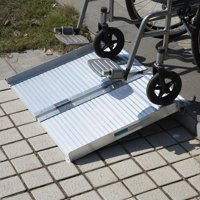 Ktaxon 2' Folding Wheelchair Ramps Aluminum Threshold Mobility Ramp Handicap Scooter Wheelchair Walker