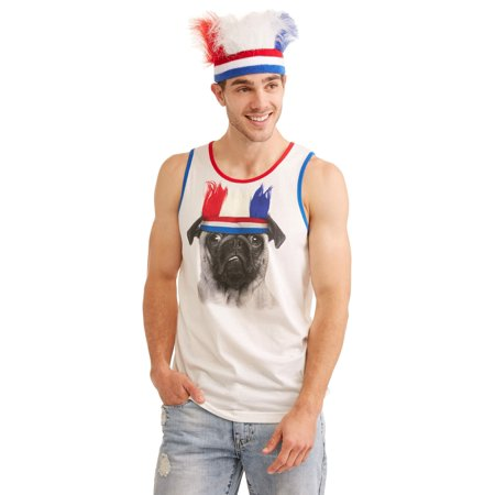 Head T-shirts Band (Pug Men's Graphic T-Shirt Combo With Headband, up to Size)