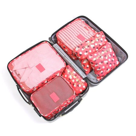 6pcs Travel Organizer Bag Storage Bag Pouch Dust-proof Case Luggage Suitcase - image 3 de 7