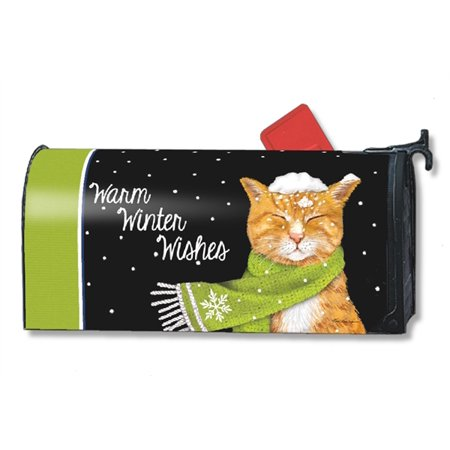 Magnet Works Its Cold Outside Kitten Magnetic Mailbox Wrap Cover