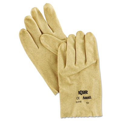 KSR Vinyl-Coated Knit-Lined Gloves, Size 10