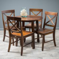 Best Selling Home Derek 5-Piece Round Dining Table Set (Wood/Rich Mahogany) + $40 Gift Card
