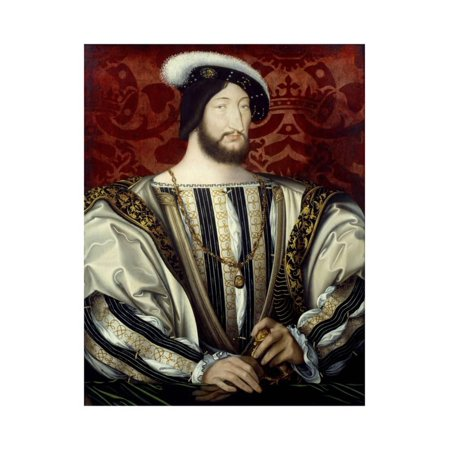 Portrait of Francis I, King of France, by Jean Clouet Print Wall Art ()