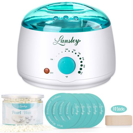 Wax Warmer,Lifestance Hair Removal Waxing Kit Wax Heater Melts Wax Beans in Minutes, Rapid Depilatory Machine for Face, Body, Legs, Bikini Area with 10.5 oz Pearl Hard Wax (At-Home (Best Depilatory Cream For Bikini Area)