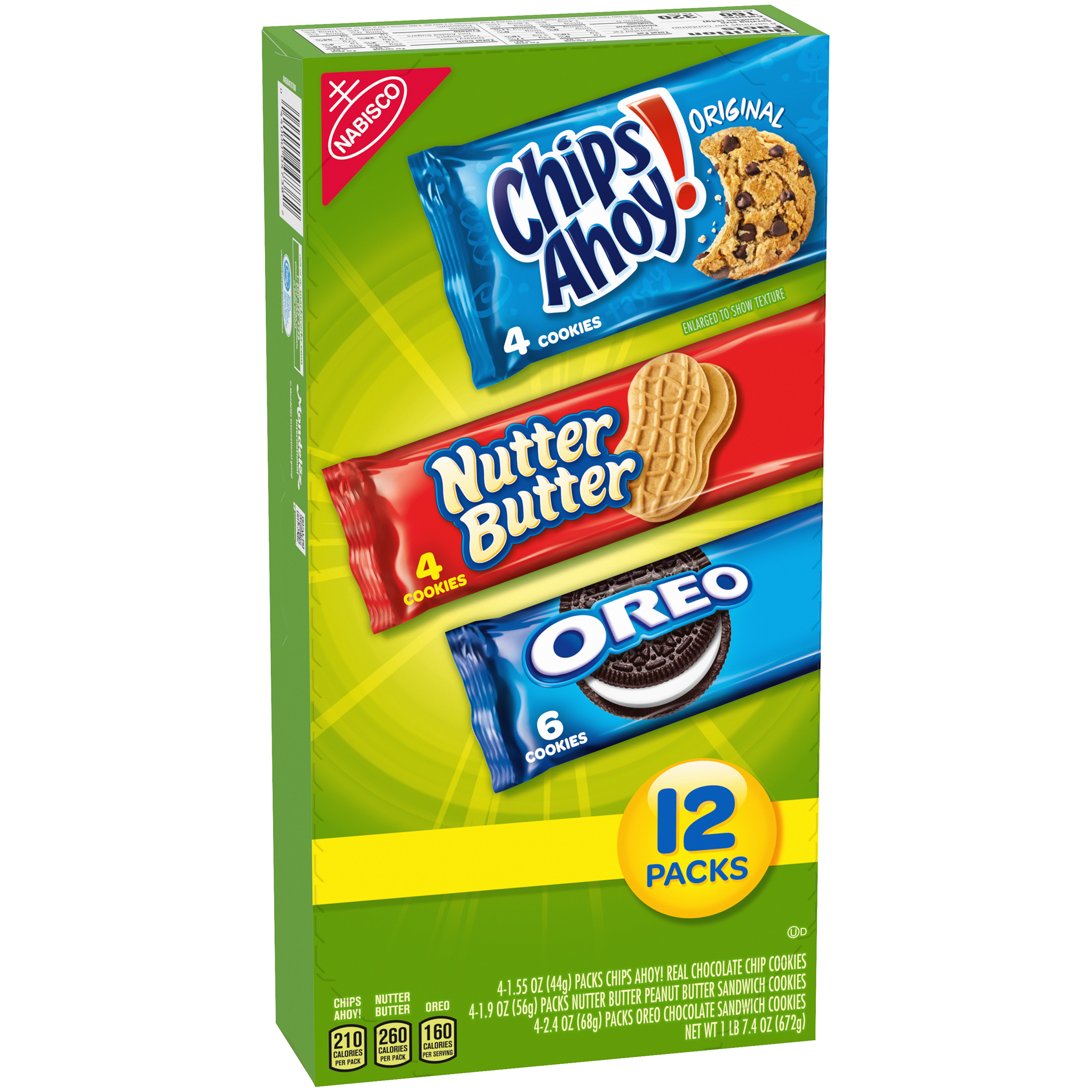 Fantastic Nabisco Chips Ahoy Nutter Butter Oreo Variety Cookie Pack Funny Birthday Cards Online Fluifree Goldxyz