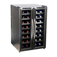 Whynter WC-321DD 32-Bottle Dual Temperature Zone Wine Cooler