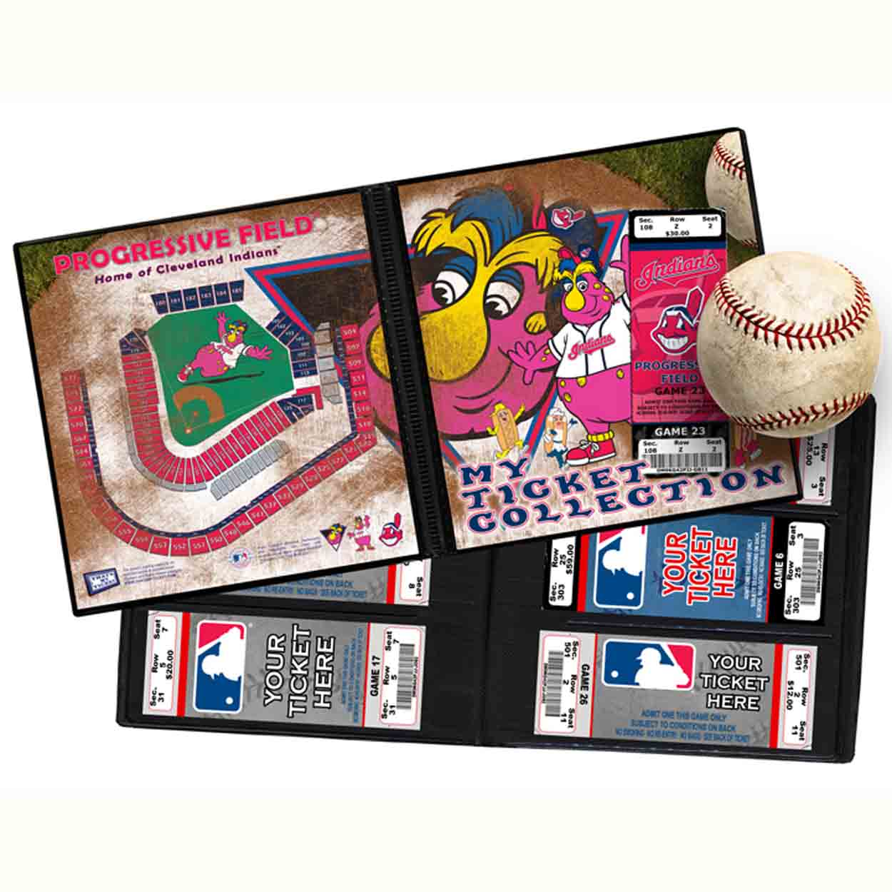 Ticket Album MLB - Cleveland Indians Mascot
