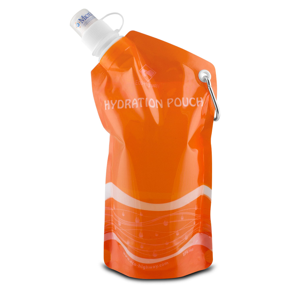 BPA Free Collapsible Foldable Water Bottle Reusable Survival Emergency 16oz New