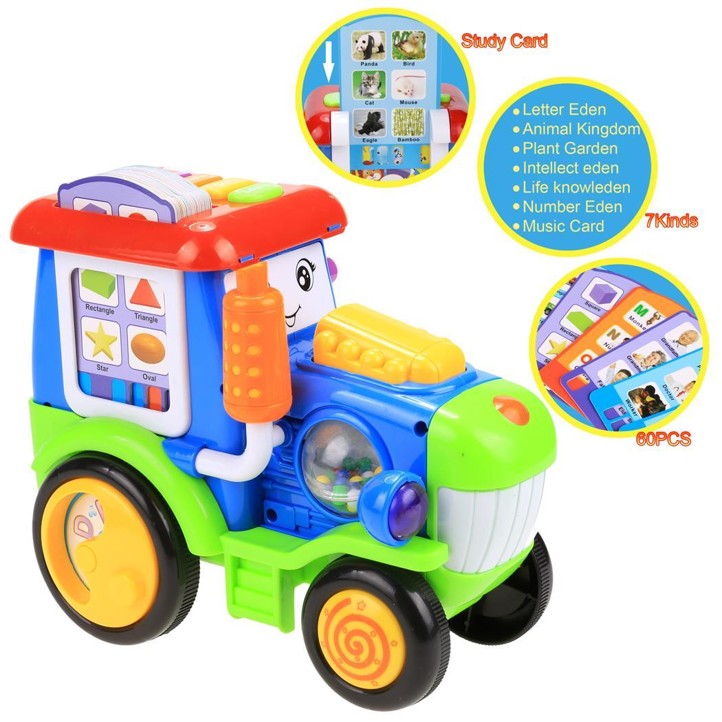 Baby Light Music Electric Train Reactor Pull Toy with Learning Educational Card HPPY by Hippy