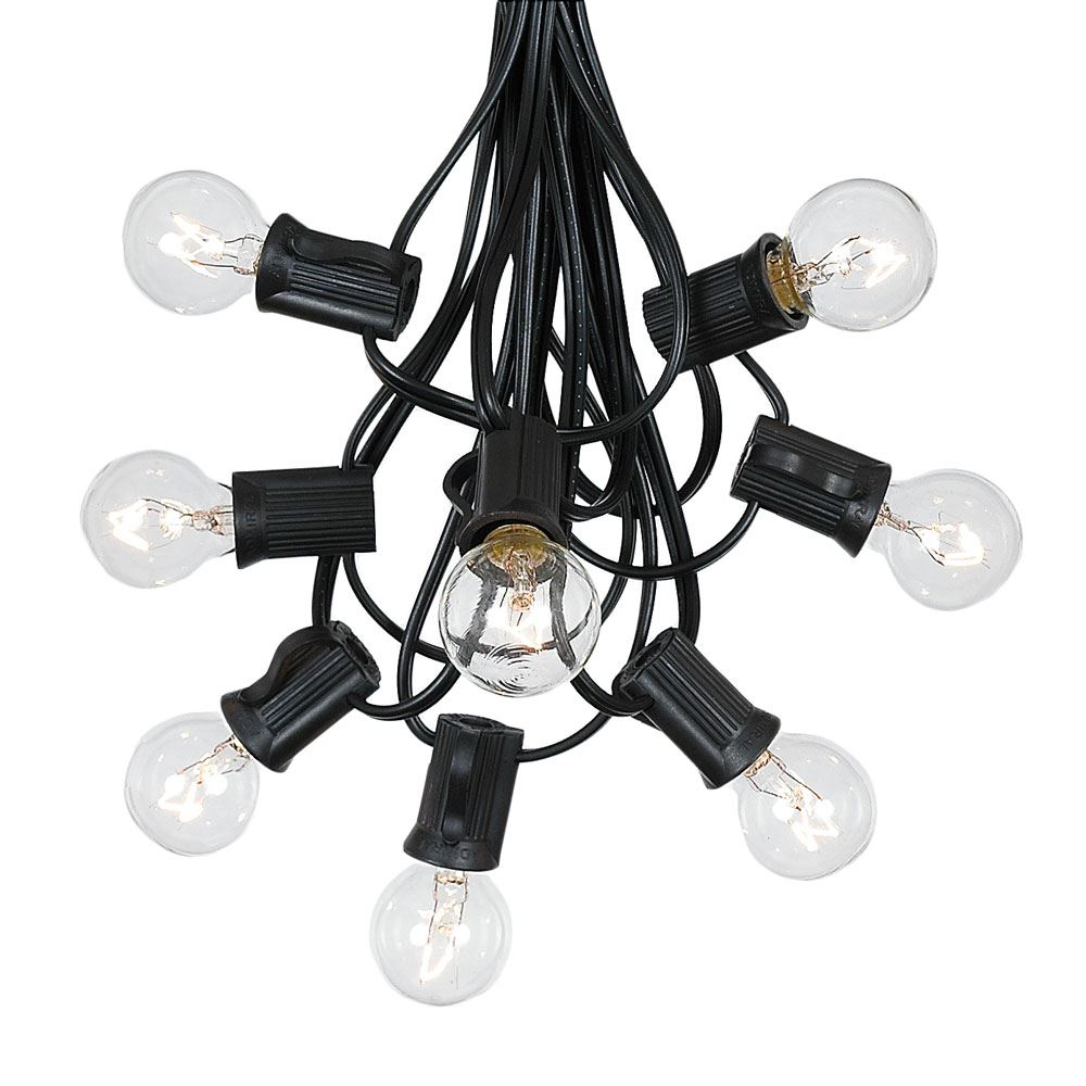 G30 Patio String Lights With 125 Clear Globe Bulbs U2013 Outdoor String Lights  U2013 Market Bistro