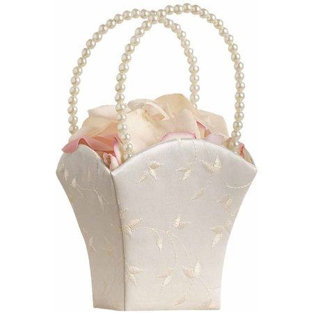Lillian Rose Elegant Ivory Flower Girl Basket