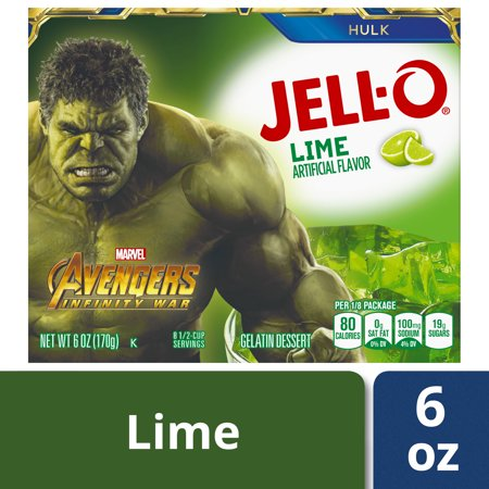(3 Pack) Jell-O Lime Gelatin Mix, 6 oz