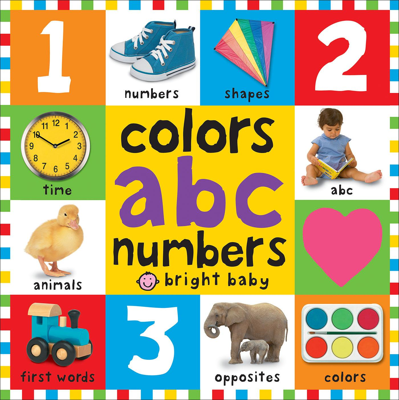 Bright Baby: Bright Baby Colors, ABC, Numbers (Board Book)