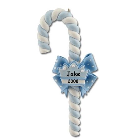 Blue Candy Cane Crown Personalized Christmas Ornament DO-IT-YOURSELF - Christmas Crowns