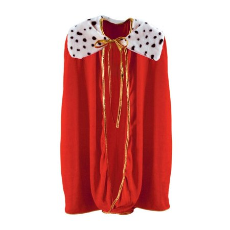Royal Red Childrens King/Queen Mardi Gras Robe or Halloween Costume Accessory - Mardi Gras King And Queen Costumes