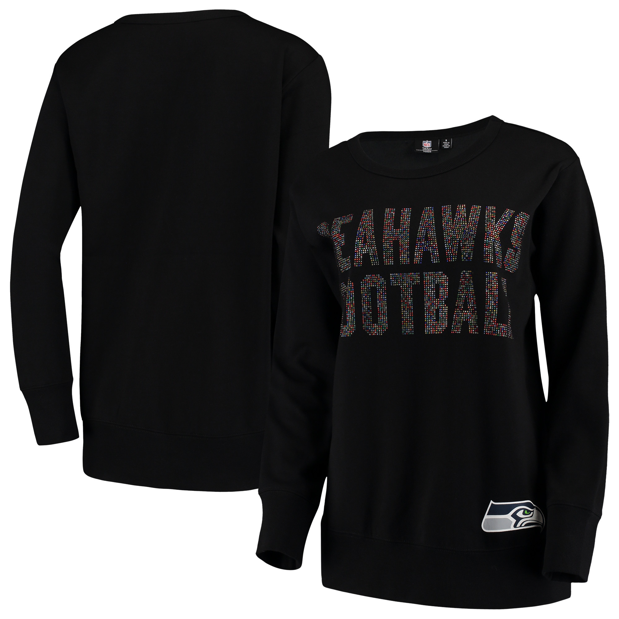 Seattle Seahawks G-III 4Her by Carl Banks Women's Superstar Pullover Sweatshirt - Black