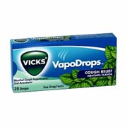 Vicks VapoDrops Cough Relief Drops Menthol Flavor 20 Each [case of 20] (Pack of 6)