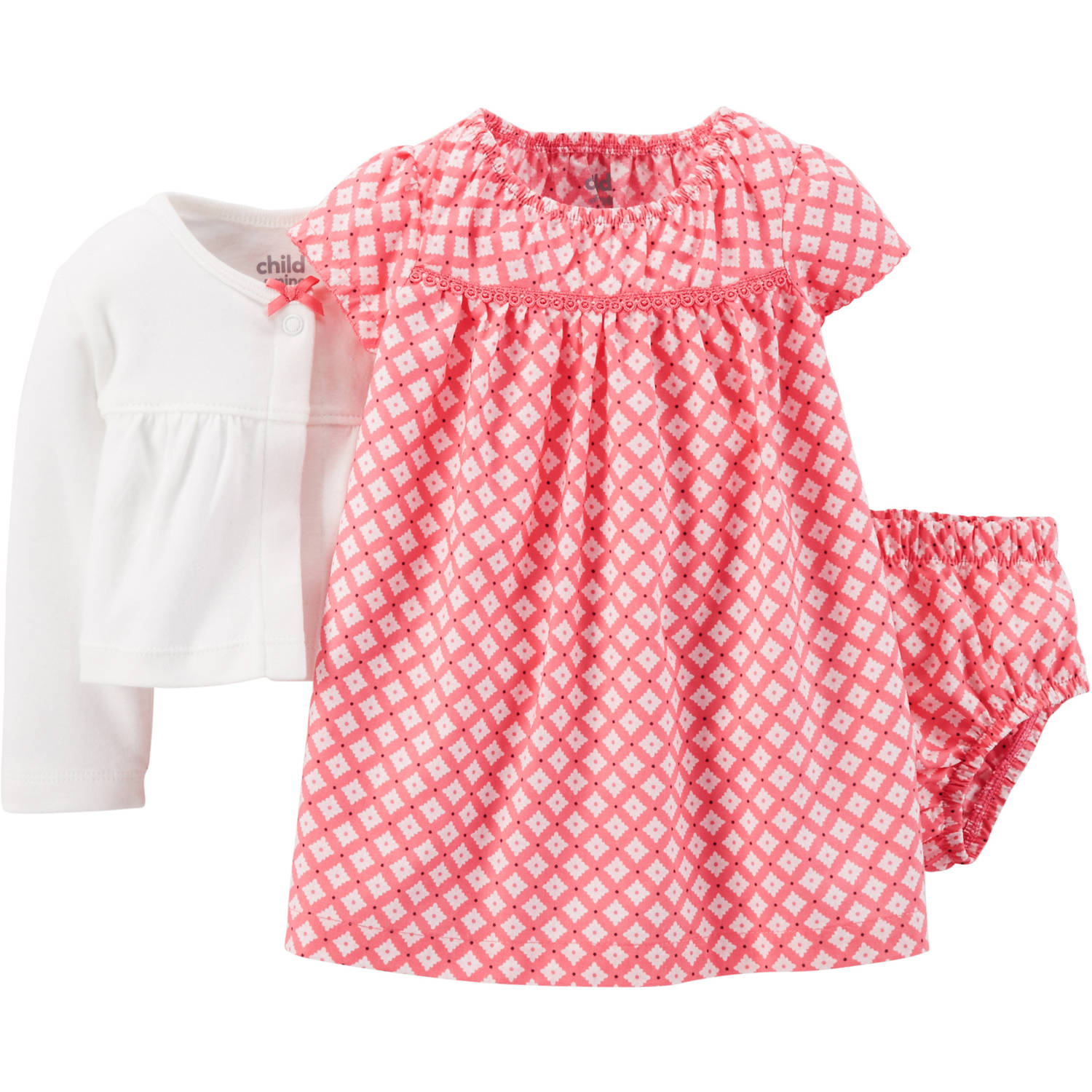 Child Mine by Carter s Newborn Baby Girl Dress and