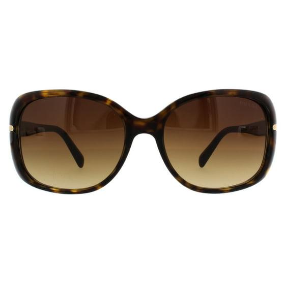 7bc7d1c7a8324 Prada - PRADA Sunglasses PR 08OS 2AU6S1 Havana 57MM - Walmart.com