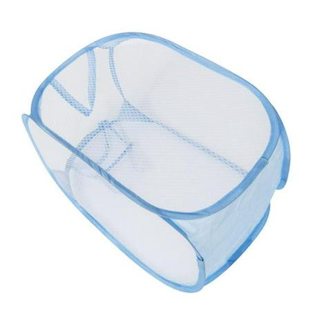 Kitchen Laundry (Foldable Pop Up Washing Laundry Basket Bag Hamper Mesh Storage Pueple BU)