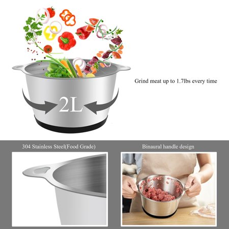 110V 300W Electric Meat Grinder Household Automatic Mincing Machine Home Use Meat Chopper US Plug