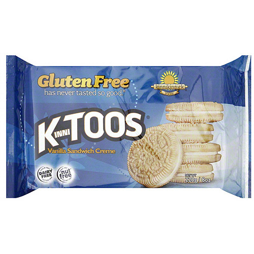 Kinnitoos Vanilla Creme Sandwich Cookies, 8 oz (Pack of 6)