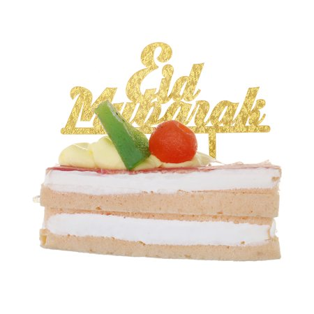 Features:1. Happy Ramadan Eid Mubarak Cake Topper Glitter Cake Topper Hajj Mubarak Cake Decor2. Complete with food safe skewer/s, ready to put straight into your cake.3. Ensuring its perfect for yo - image 4 de 6