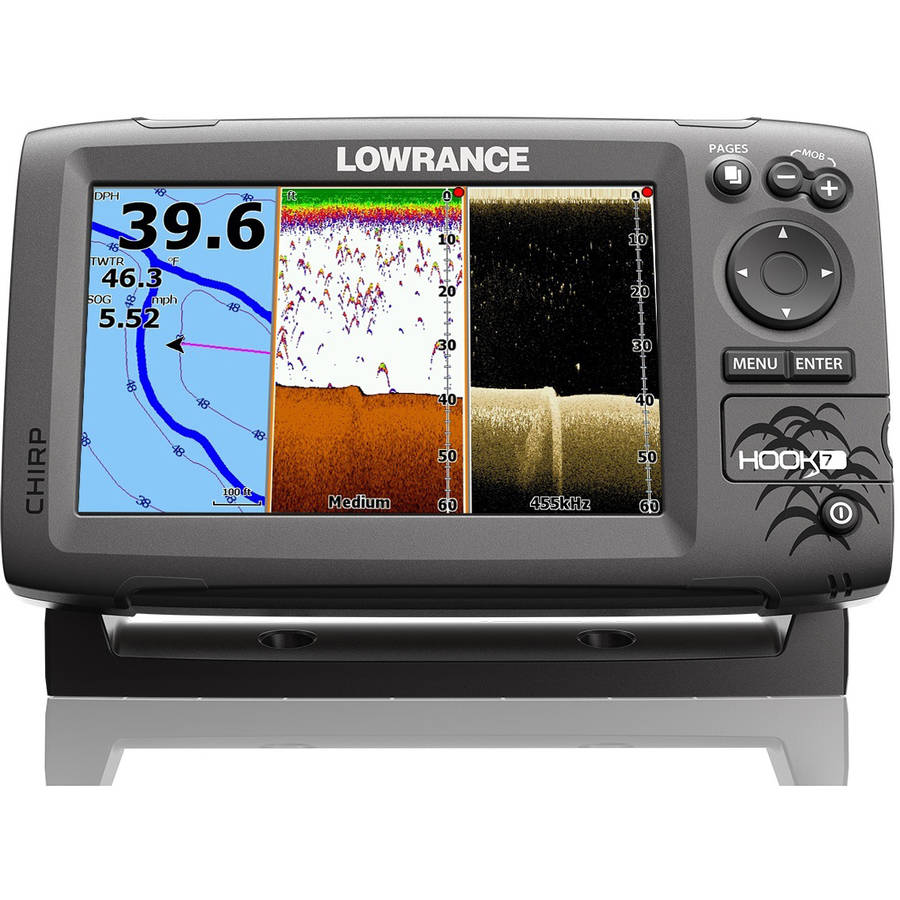 Lowrance Hook-7 Base Mid/High/DownScan Fishfinder/Chartplotter